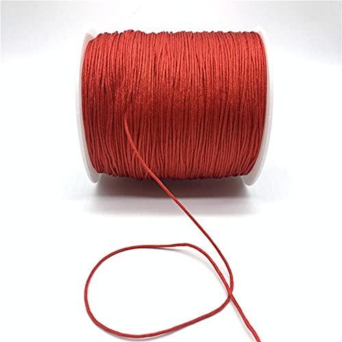 WEDSA 10 yardas/lote 1 mm cuerda de nylon nudo chino cuerda de macramé cuerda para hacer joyas DIY pulsera-20