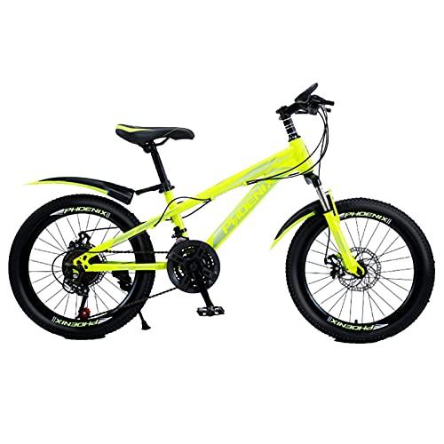 Axdwfd Infantiles Bicicletas Bicicleta para niños de 20 Pulgadas, Marco de Acero Altas de Carbono de Bicicletas, para 9-14 años de Edad, Montar al Aire Libre, frenado