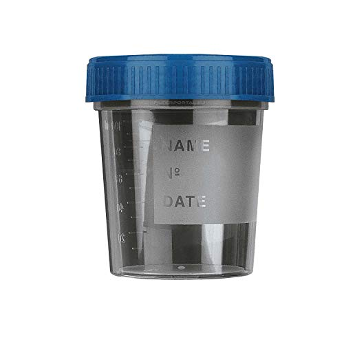 20 x Urinbecher | 120ml mit Schraubdeckel | Urinprobenbecher Urin Probe Becher Mehrzweck Kunststoffbecher (BLAU)