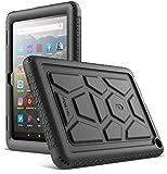 Poetic TurtleSkin Serie per Completamente Nuovi Tablet Kindle Fire HD 8 Custodia e Tablet Fire HD 8 Plus (Decima Generazione, Versione 2020), Silicone per Bambini Resistente agli Urti, Nero