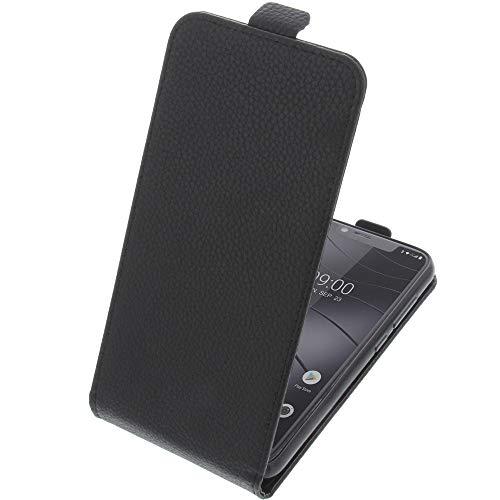 foto-kontor Tasche für Gigaset GS195 Smartphone Flipstyle Schutz Hülle schwarz