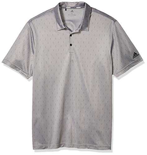 adidas Herren Poloshirt mit Aufdruck, Herren, Polo, Novelty Print Polo Shirt, Grau Three/Black, X-Large