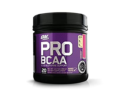 Optimum Nutrition Pro BCAA Powder with Glutamine, Raspberry Lemonade, Keto Friendly Branched Chain Amino Acids, 20 Servings (Packaging May Vary)