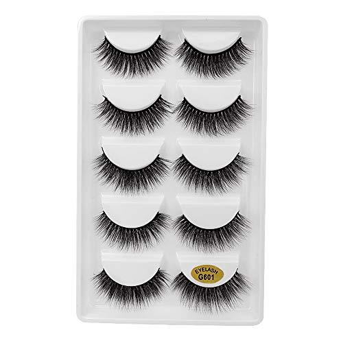 5 Pairs Natural Look Fake Eye Lash False Eyelashes Extension Makeup by MMLC (B)