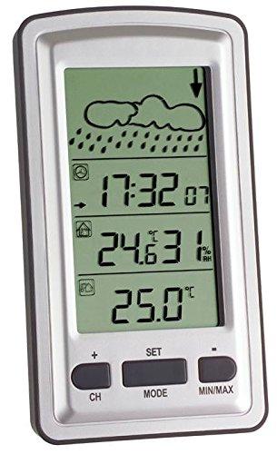 TFA Dostmann 35.1079 Funkwetterstation Axis (Silber mit Batterien)