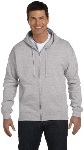 Hanes Mens Comfortblend EcoSmart Full Zip Hooded Sweatshirt L Light Steel product image