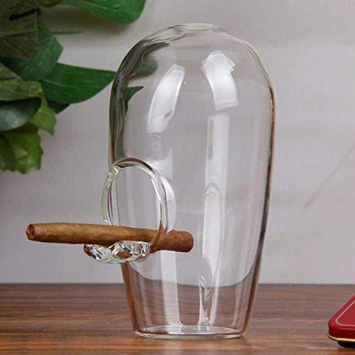 Asbak roken accessoires thuis tray sigaar glazen asbak cutelear ashtray (Color : Clear)