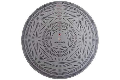 Sperling Audio Stroboskop-Lampe STL-1 und Scheibe STR-1 für Einstellung von Plattenspielern (Stroboskop-Scheibe STR-1)