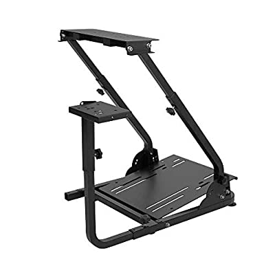 Hottoby G920/G29 Racing Wheel Stand fit for Logitech G27/G25 Gaming Wheel Stand fit for Thrustmaster?Wheel Pedals NOT Included Shifter Mount NOT Included