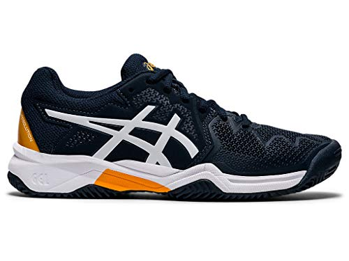 ASICS Kid's Gel-Resolution 8 GS Tennis Shoes, 4M, French Blue/White