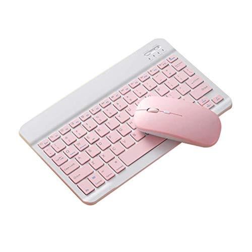 L-sister Alta precisión Conjunto de teclado del mouse Bluetooth para iPad Tableta móvil Tableta Universal Sintonizador ultra delgado Rosa de los ratones de los ratones Azul Coloración La más alta sens