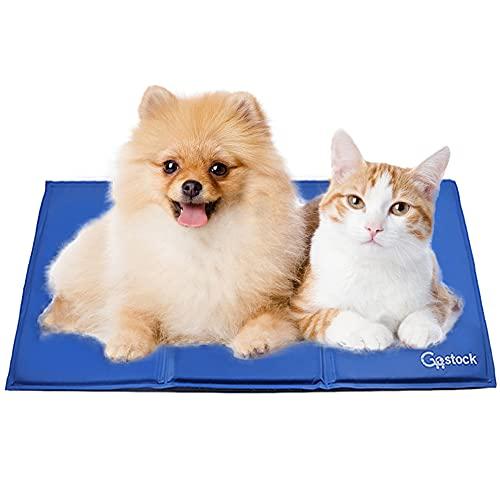 Kühlmatte für Hunde, GoStock Kühlmatte für Haustiere Ungiftiges Gel-Selbstkühlende Matte für Hunde und Katzen, Pet Cooling Mat Hund Cooler Pad für Kisten, Zwinger und Betten (65 * 50cm)