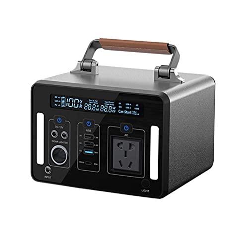 Power Station - Generador portátil de 500 Wh, 135200 mAh, Power Station Power Supply, Ac/Type-C/Usb-QC/salida cargador para coche, carga por panel solar/coche/toma de pared para ti