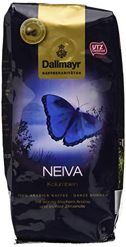 Dallmayr Kaffee Kaffeerarität Neiva Kaffeebohnen (1 x 250 g), ganze Bohne