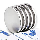 DIYMAG Powerful Neodymium Disc Magnets, Strong, Permanent, Rare Earth Magnets. Fridge, DIY, Building, Scientific, Craft, and Office Magnets,1.26 inch X 1/8 inch, Pack of 5