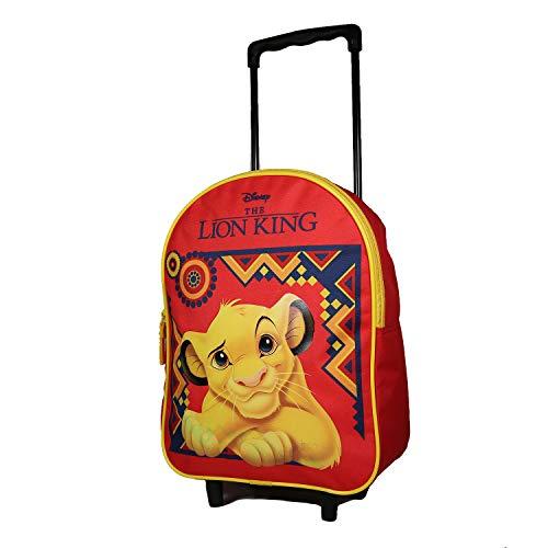 Bagtrotter - Mochila con ruedas, 31 cm, diseño de Disney del Rey León, color rojo