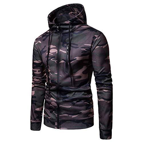 Heren Blouse Winter Sales Heren Camouflage Rits Trui Lange mouwen Hoodie Modieuze Completi Tops Blouse Casual Tarn Trui Jas in de herfst en winter