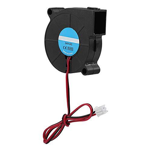 Ventilador, Ventilador de 12 V / 24 V Turbo Ventilador Lasko, 50 * 50 * 15 mm para Impresora 3D(24V)