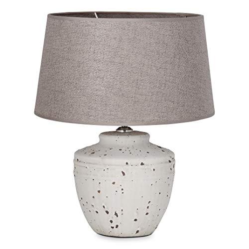 Home sweet home tafellamp Lina - beton/keramiek met lampenkap Melrose - grijs