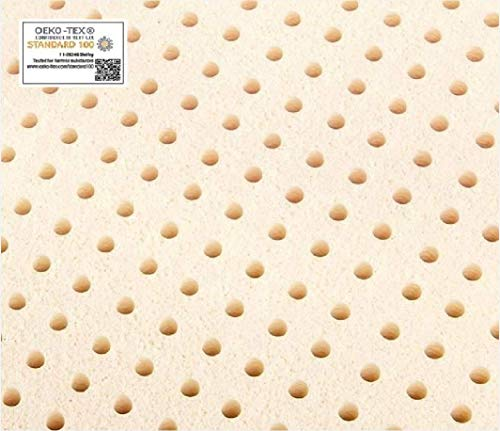 """Queen Pure Talalay Latex Mattress Pad Topper, USA Made All Densities (Soft 55K Density, 2"""" Thick)"""