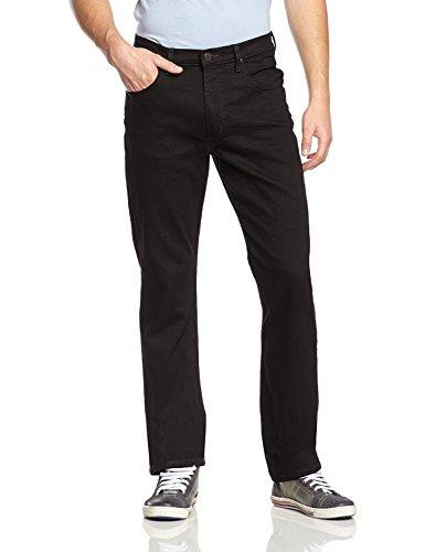Lee Brooklyn Straight Jeans, Negro (Clean Black), 42W / 32L para Hombre