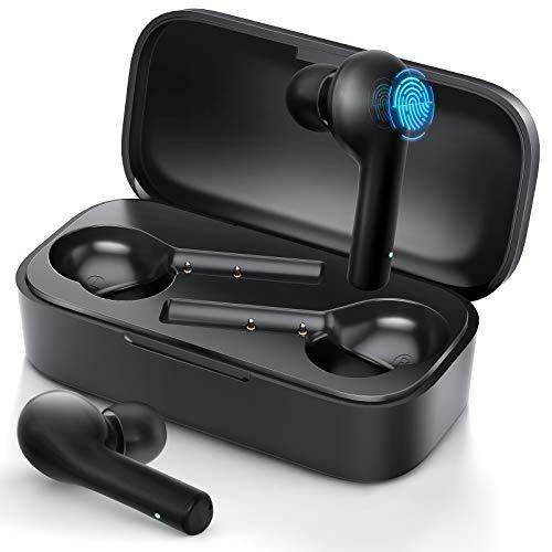 JOMARTO Bluetooth Kopfhörer in Ear Kabellos Kopfhörer Sport Bluetooth V5.0 25 Std. Laufzeit TWS Stereo Headset mit eingebauter Mikrofon und Ladecase IPX5 Wasserdicht Wireless Earbuds