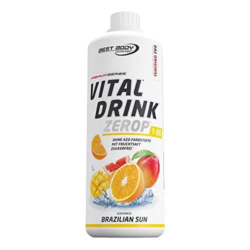 Best Body Nutrition Vital Drink ZEROP - Brazilien Sun, zuckerfreies Getränkekonzentrat, 1:80 ergibt 80 Liter Fertiggetränk, 1000 ml