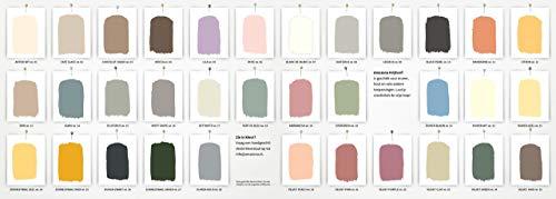 Jeans Graublau 0,75 Liter Amazona by Wohnliebhaber Kreidefarbe Ökologisch Shabby Chic Vintage Landhausstil DIY Holz Metall Kunststoff Wand Stein für alle Untergründe Wandfarbe Farbe Chalk Paint