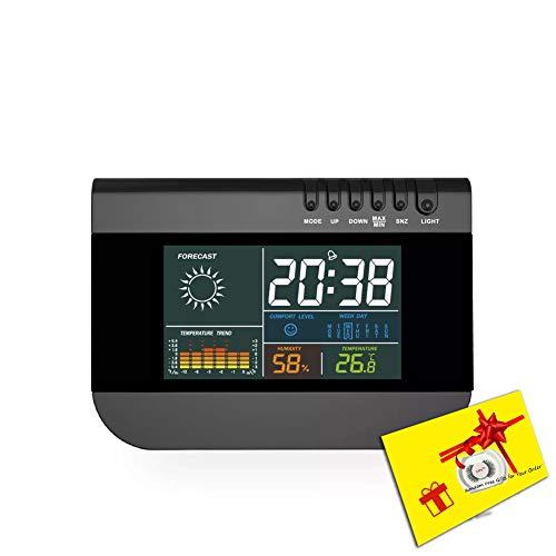 LICHUXIN Wetterstation Produkt ist schwer displaymoon Display weiß Schalter jederzeit ausgestattet Mondphase LED-Hintergrundbeleuchtung Form Touch-Wettervorhersage Anzeige Desktop-Wandhalterung