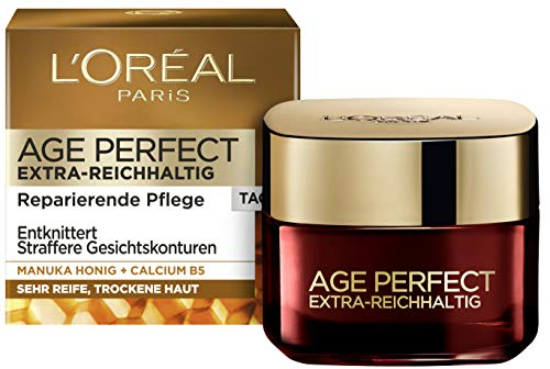 L'Oréal Paris Tagespflege, Age Perfect Extra-Reichhaltig, Anti-Aging Gesichtspflege, Entknittern...