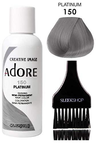 ADORE Creative Image Shining SEMI-PERMANENT Hair Color (STYLIST KIT) No Ammonia, No Peroxide, No Alcohol Haircolor Semi Permanent Dye (150 Platinum)