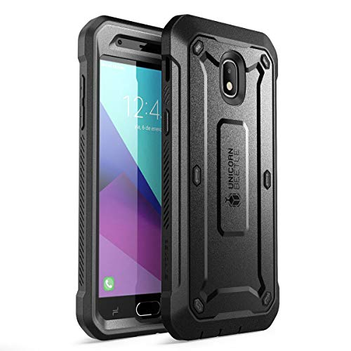 SUPCASE Unicorn Beetle Pro Series Case for Samsung Galaxy J3 2018, Full-Body Rugged Holster Case with Built-in Screen Protector for Samsung Galaxy J3 Achieve (2018 Release/SM-J337)(Black)