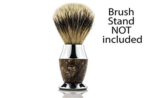 Maison Lambert Silvertip Badger Bristle corne Faux poignée Blaireau Brosse Support fourni nous...