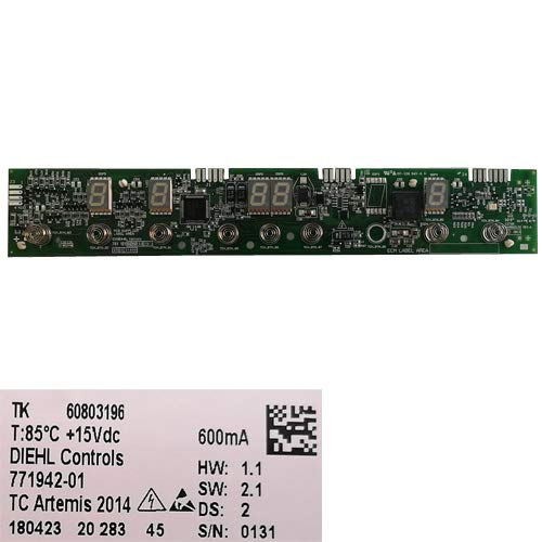 Desconocido Módulo Electrónico Mandos 60803196, 771942-01, OC-106 94V-0 H, Teka IR 3200 VR01