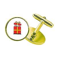 クリスマスのギフトの蝶結びバステト スタッズビジネスシャツメタルカフリンクスゴールド