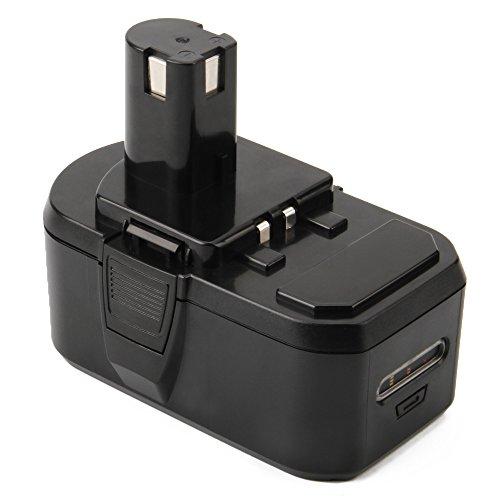 Shentec 18V 3.5Ah Ni-MH Batería para Ryobi ONE + RB18L50 RB18L40 RB18L25 BPL-1815 BPL-1820G BPL18151 BPL1820 P102 P103 P104 P105 P106 P107 P108