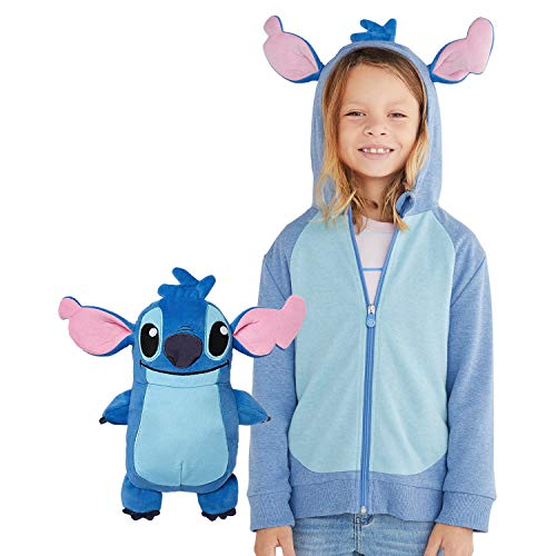 Cubcoats Stitch 2-in-1 Transforming Classic Zip-Up Hoodie & Soft Plushie