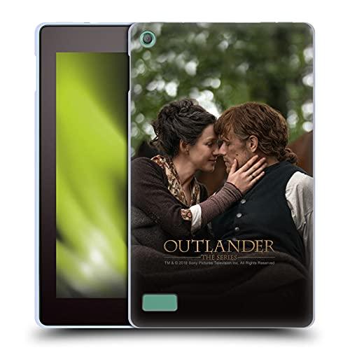 Head Case Designs Licenza Ufficiale Outlander Claire Jamie Bacio Stagione 4 Arte Cover in Morbido Gel Compatibile con Fire 7 (2017)   Fire 7 (2019)