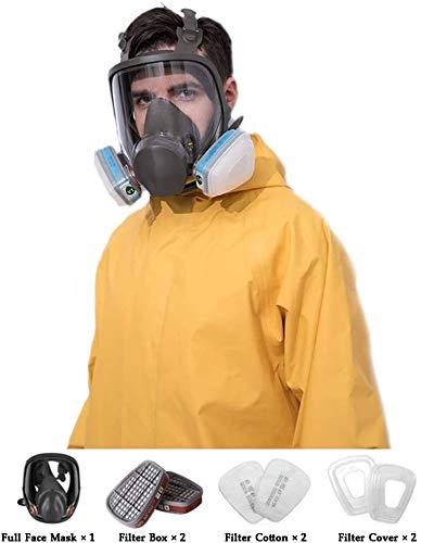 Mascarilla Facial Del Respirador Sombrero De Protección, Extraíble Ajustable Utilizado En Gas Orgánica Pintura Spary Químico Tratamiento De La Madera, Polvo Protect