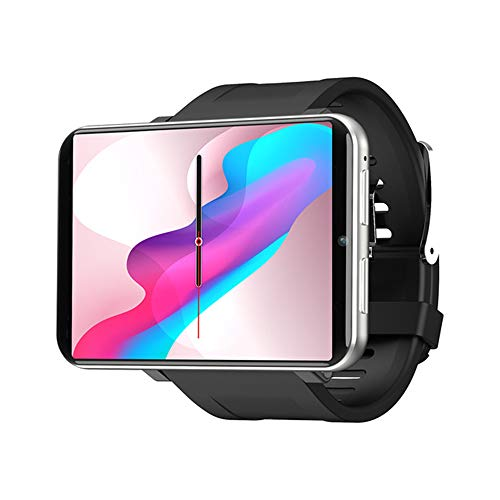 4G Smart Watch 2.86 Inch Screen Android 7.1 3GB+32GB 5MP Camera 2700mAh Battery Smartwatch for Men (Silver, 3GB+32GB)