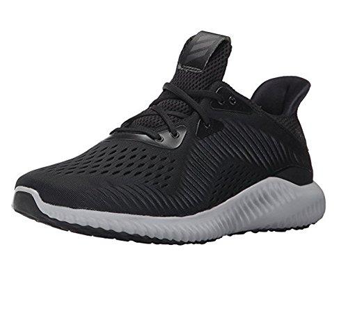 adidas Men's Alphabounce em m Running Shoe, Black/White/Utility Black, 12.5 Medium US