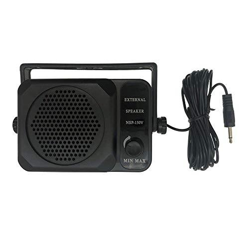 Red-Fire 3.5mm Jack Adjustable Volume Communication Ham Mini External Speaker Compatible with Walkie Talkie Kenwood Motorola Yaesu Midland Icom HYT Mobile Transceiver Two Way CB Radio