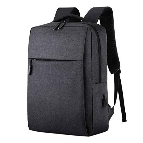 Laptop Backpack USB Charging Backbag Travel Daypacks Men School Bookbag Leisure Backpack Anti Theft Black B