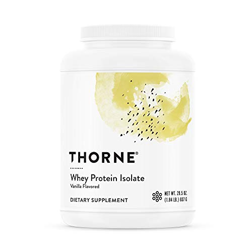 Thorne Research - Whey Protein Isolate - Easy-to-Digest Whey Protein Isolate Powder - NSF Certified for Sport - Vanilla - 29.5 oz