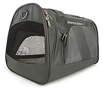 Sherpa Travel American Airlines Duffle Pet Carrier, Medium,Charcoal