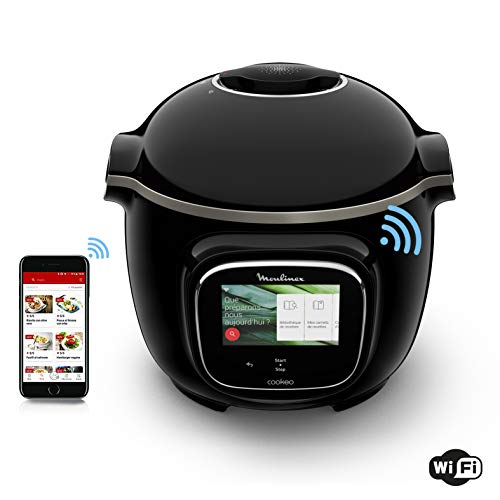 Moulinex Cookeo Touch WiFi Multicuiseur Intelligent Haute Pression Connecté Ecran Tactile 250...