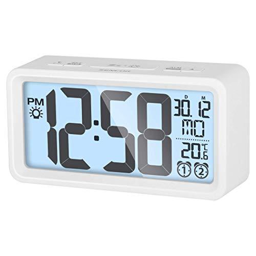 Sencor SDC 2800 W digitaal alarm klok wit wekker