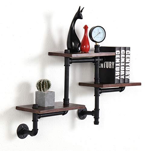 Chengxin Floating Shelves Vintage industriële steunen zijn geschikt voor boekenplanken, winkelplanken, zwevende planken, pijplanken, hardwareplanken, zwarte planken 60x82cm drijvende planken