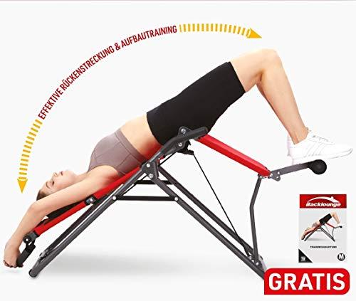 Mediashop BackLounge   Inversions-Rücken-Trainer   Inversionsbank   Streckung der Wirbelsäule   bis zu 110 kg dynamisch, 250 kg statisch belastbar   integrierte Massagerollen   zusammenklappbar - 10