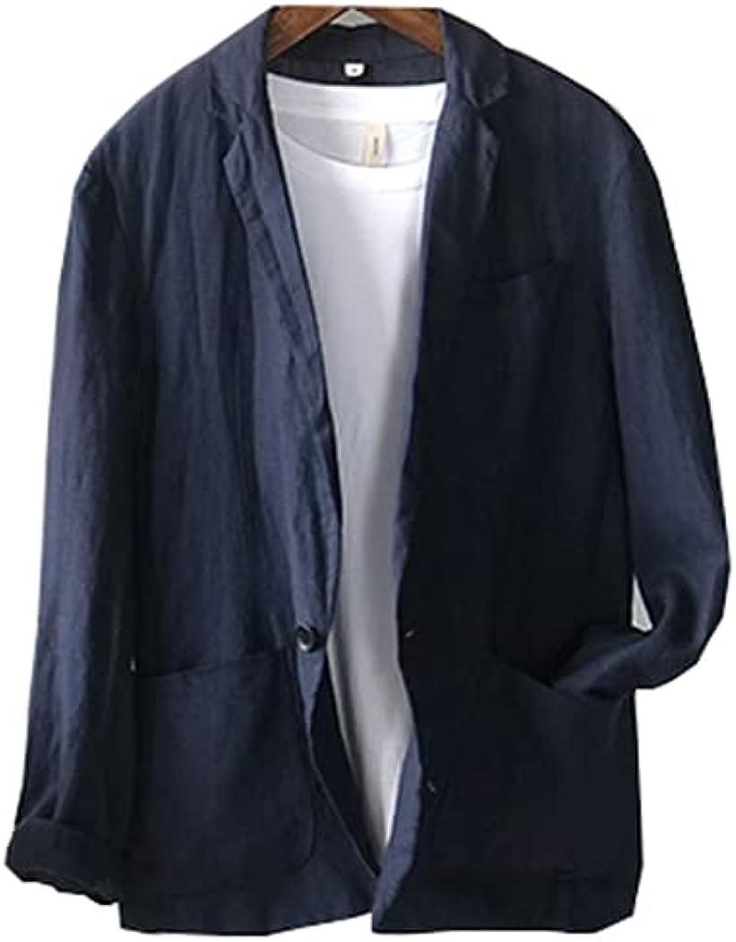 Ufehaho Suits for Men Slim Fit Tuxedo Khaki Suit Wedding Business Linen